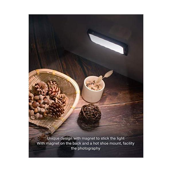 """Moman Luce LED Faro Fotografia, Fillipo LED Reflex 4.7"""" 147g, Faretto LED Video Dimmerabile Bi-Color 3000K- 6500K, TLCI/CRI 96+, Cavo di Tipo-C Incluso, Nero 5 spesavip"""