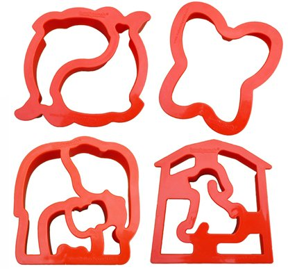 Lunch Punch Animal Shape Sandwich Cutters (Set of 4) (Animal Shaped Hole Punch)