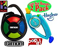 SIMON & Bop It! (BLUE) Electronic Hand-Held Carabiner Editions Gift Set Bundle - 2 Pack