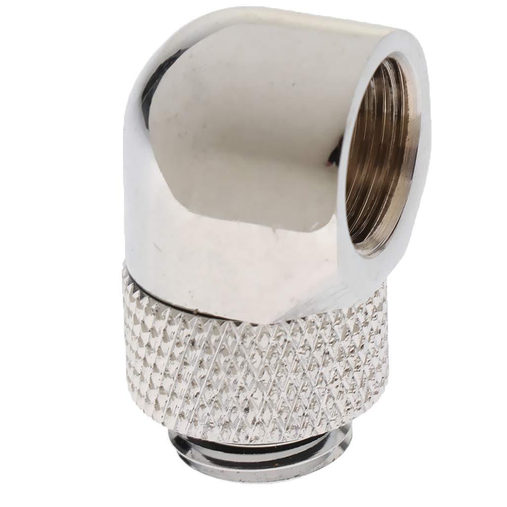 KESOTO Barrow Brass G1 4 Inches Thread 90 Gradi Giunto Rotante Adattatore Adattatore 3Piece