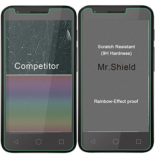 Mr Shield-[3-Pack for Alcatel Dawn/Alcatel Ideal/Alcatel Streak [Tempered  Glass] Screen Protector with Lifetime Replacement