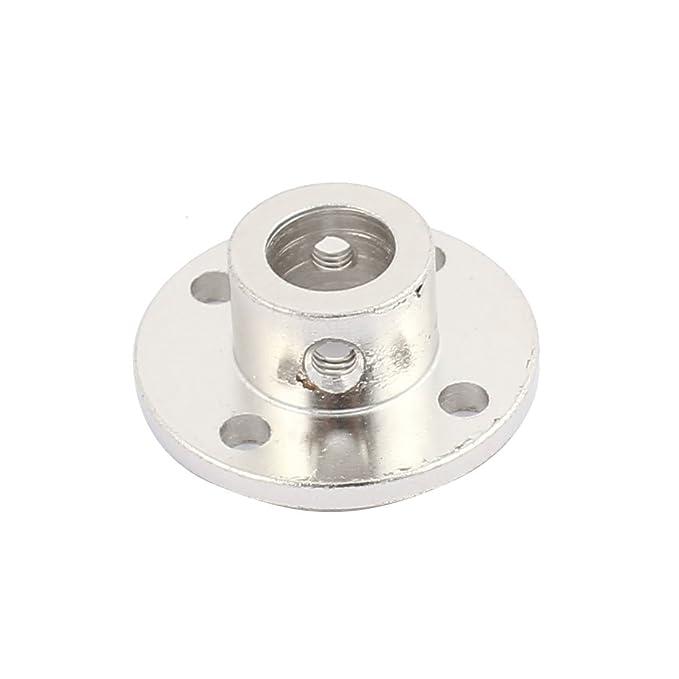 uxcell 4mm Inner Dia H12D10 Rigid Flange Coupling Motor Guide Shaft Coupler Motor Connector for DIY Parts