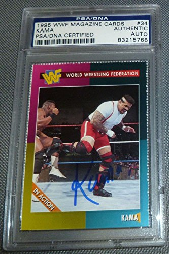 Kama The Godfather Signed 1995 WWF Magazine Card Auto COA #34 Autograph - PSA/DNA Certified - Autographed Wrestling Photos ()