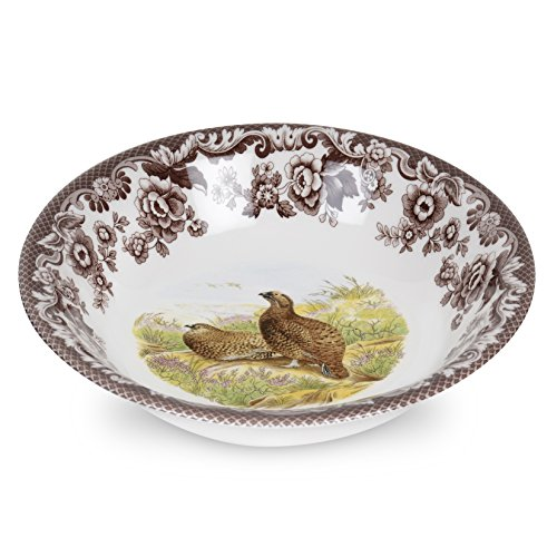 Spode 1566378 Woodland Ascot Cereal Bowl (Red Grouse) Woodland Pasta Bowl