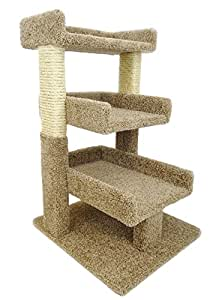 New Cat Condos Premier Triple Cat Perch, Brown