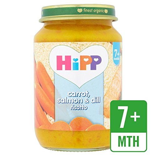HiPP Organic Carrot, salmón y eneldo Risotto 190g: Amazon.es: Alimentación y bebidas