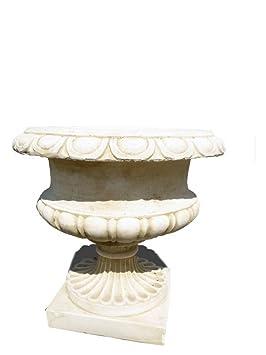 Vasque ronde en pierre reconstituée 56x45cm: Amazon.fr: Jardin