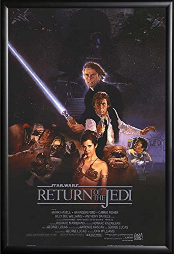 Framed Return of the Jedi Star Wars Movie 27x40 Poster in Ma