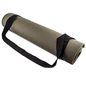 Fit Spirit Adjustable Cotton Yoga Mat Carrying Strap - Black