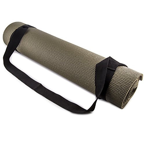 Fit Spirit Adjustable Cotton Yoga Mat Carrying Strap – Black