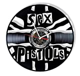Sex Pistols Vinyl Record Wall Clock - Handmade Ornament Decoration and Gift idea for Any Occasion