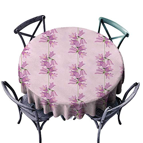 (Onefzc Custom Tablecloth bluebells Seamless Ornamental Wallpaper Summer Meadow Stain Resistant, Washable 70