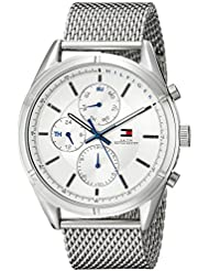 Tommy Hilfiger Mens 1791128 Sport Lux Silver-Tone Stainless Steel Watch