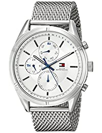 Tommy Hilfiger Men's 1791128 Sport Lux Analog Display Quartz Silver Watch