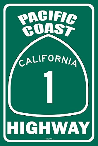 Pixy Ink Pacific Coast Highway PCH Metal Street Sign for sale  Delivered anywhere in USA
