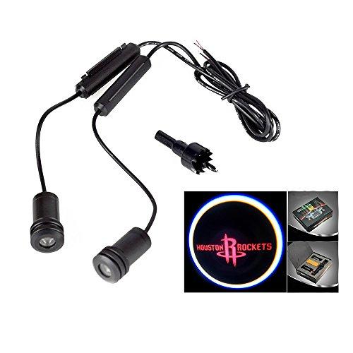 Lupar 5w 4th Generation 2x LED Car Door Laser Projector Ghost Shadow Step Light Logo (ROCKETS)