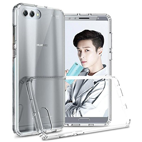 Honor View 10 Clear Case, Huawei Honor V10 Clear Case, CoverON ClearGuard Series Hard Slim Fit Phone Cover with Clear Back and Flexible TPU Bumpers for Huawei Honor View 10/Honor V10 - Clear
