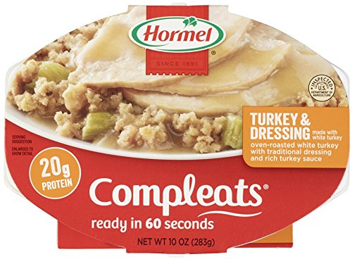 Hormel Compleats Turkey & Dressing with Gravy, 10-Ounce Microwavable Bowls (Pack of 6)