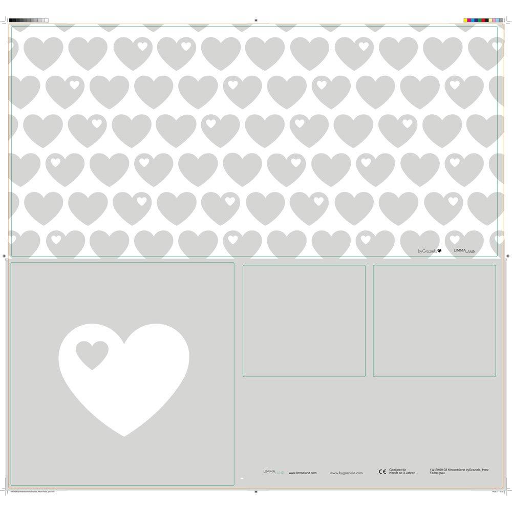 Limmaland Klebefolie byGraziela Herz passend f/ür Deine IKEA Kinderk/üche DUKTIG Farbe Grau M/öbel Nicht inklusive