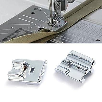 2pcs/lot Household Multi - Accesorios para máquina de coser doble enrollado Hem prensatelas CY