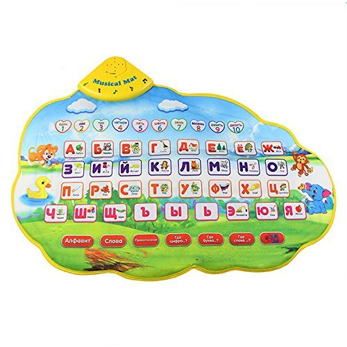 TOOGOO(R) Children Learning Mat Russian Language Toy Funny Alphabet Mat Learning Education Phonetic Sound Carpet ABC Toy