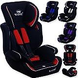 Kidiz® Autokindersitz Autositz Kinderautositz 9-36 kg Gruppe 1+2+3 Kindersitz Sportsline , Farbe:Pink
