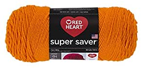 Coats: Yarn Red Heart E300.0254 Super Saver Economy Yarn, Pumpkin