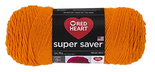 RED HEART Super Saver Yarn, Pumpkin