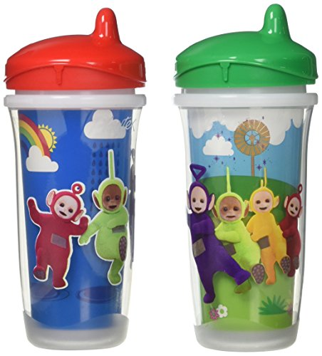Playtex Sipsters Stage 3 Teletubbies Spill-Proof, Leak-Proof, Break-Proof Insulated Toddler Spout Sippy Cup - 9 Ounce - 2 Count (Color/Theme May Vary)