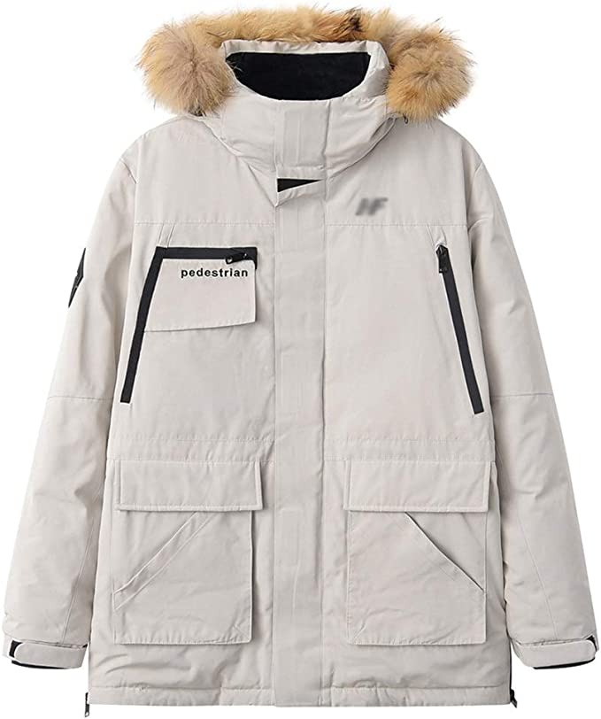 Caliente abajo chaqueta de la capa Parka Puffer los hombres ...