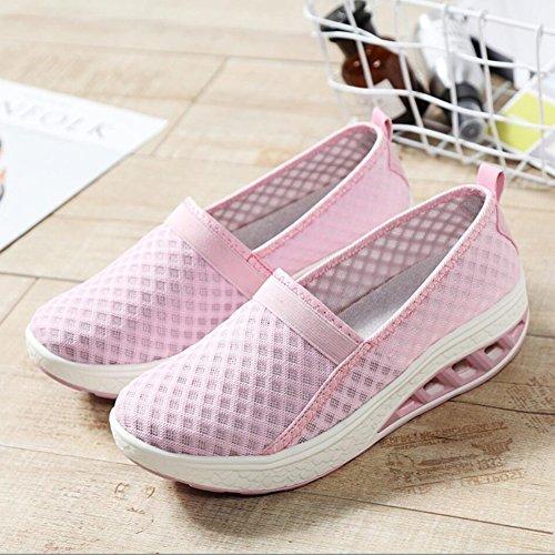 Shake Autunno Mocassini Loafers Sneakers Flat Slip Donna Scarpe Fitness Shoes Mesh Shaking B Platform E Guida Xue Primavera Athletic guida Da TaW7SyWX