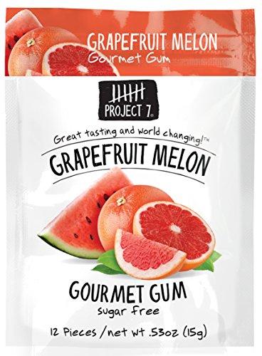 Project 7 Sugar Free Gum, Grapefruit Melon, 12 (7 Dessert)