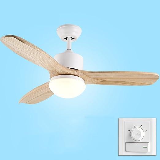 Liuyu · Hojas de madera Inicio Ventilador de techo Luz Minimalista ...