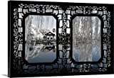 Canvas On Demand Philippe Hugonnard Premium Thick-Wrap Canvas Wall Art Print, 36'' x 24'', entitled 'Asian Window, Another Look Series, White Reflections'