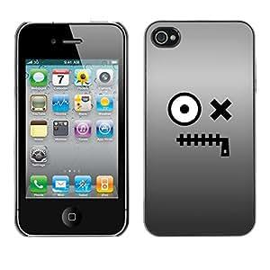 [Neutron-Star] Snap-on Series Teléfono Carcasa Funda Case Caso para iPhone 4 / 4S [Carácter Ojos Monstruo de la historieta]