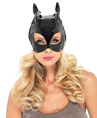 Leg Avenue V1013 Vinyl Cat Woman Mask - One Size - Black -