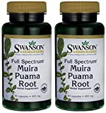 Swanson Muira Puama 400 (Two Bottles each of 90 Capsules)