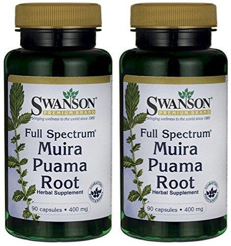 - Swanson Muira Puama 400 (Two Bottles each of 90 Capsules)