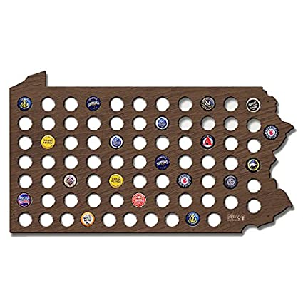Regali Di Natale Per Fidanzato.Tappo Birra Pennsylvania Map Cool Regali Di Natale Per Fidanzato
