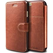 Taken iphone 6 wallet Case - iphone 6s Leather Case PU - Card Slot - Ultra Slim (Brown)