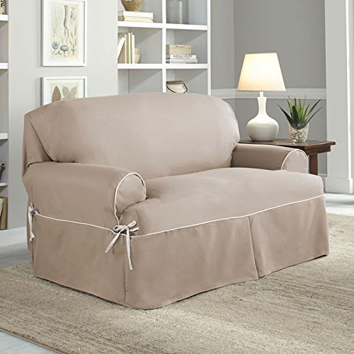Serta Relaxed Fit Cotton Twill Cover for T-Loveseat by Serta
