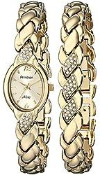 Armitron Women's Swarovski Crystal Watch And Bracelet Set