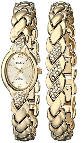 armitron-womens-75-3901chgpst-swarovski-crystal-accented-gold-tone-bracelet-and-watch-set