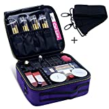 Purple Makeup Bag,Chomeiu Professional Makeup Case With Shoulder Strap Portable Travel Cosmetic Bag Organizer Makeup Boxes With Compartments