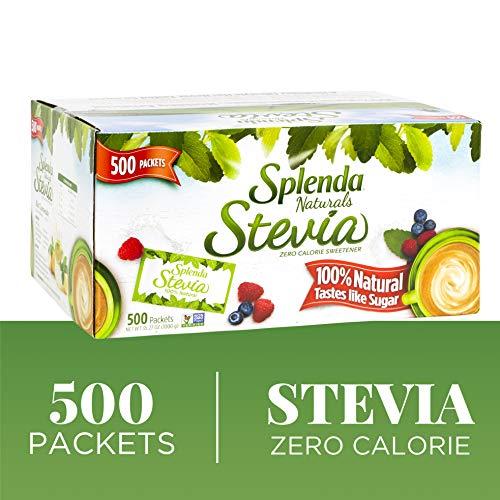 SPLENDA Naturals Stevia Sweetener: No Calorie, All Natural Sugar Substitute w/ No Bitter Aftertaste. Single Serve Granulated Packets (500 Count) Splenda