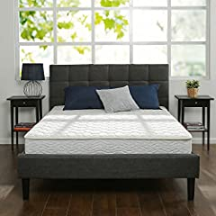 Zinus 8 Inch Hybrid Green Tea Foam and Spring Mattress offers firm support for a better night's sleep. This innovative mattress features a Fiber Quilted Cover, High-Density Support Foam, Green Tea ViscoLatex Foam Comfort Layer and 6 Inch Coil...