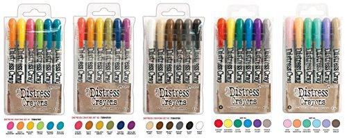 Ranger Tim Holtz Distress Crayons Bundle: Sets 1, 2, 3, 4, and 5 by Ranger Ink (Image #6)