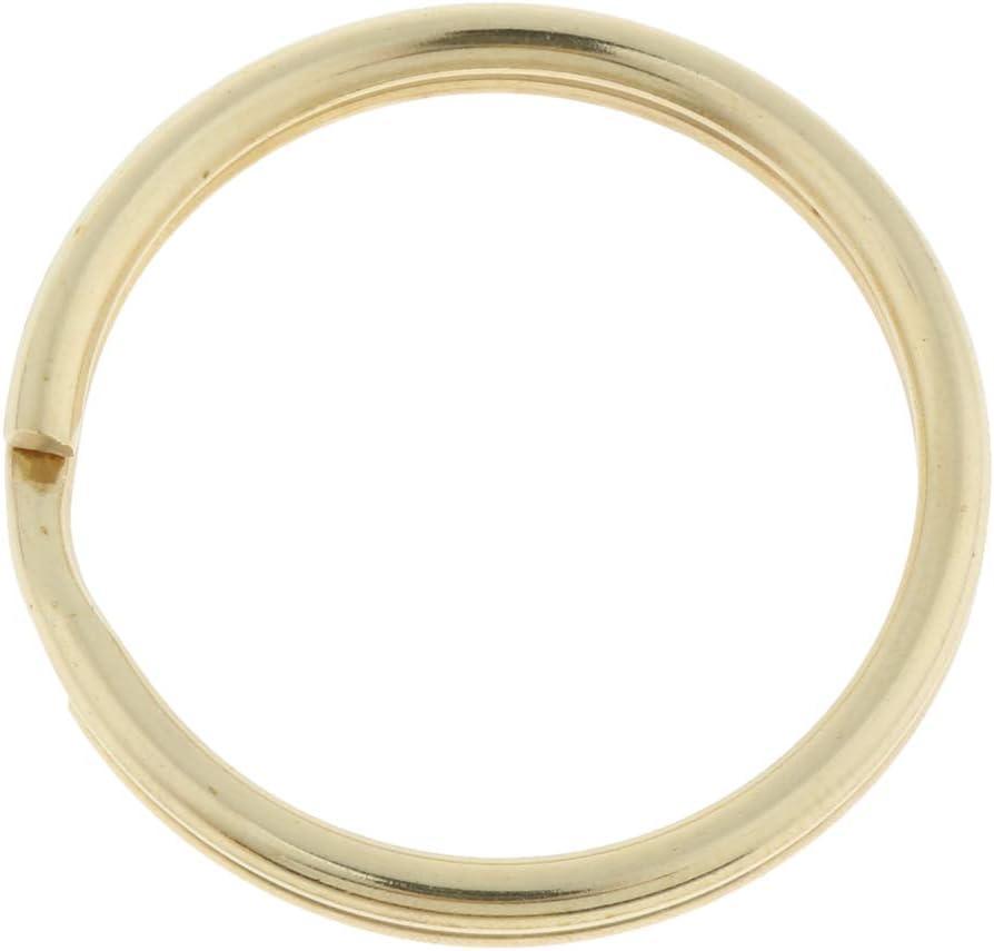 30mm Haus Unbekannt 20er Pack Messing Schl/üsselring f/ür Schl/üsselbund Split Ring f/ür Auto Schl/üssel Zubeh/ör 10mm