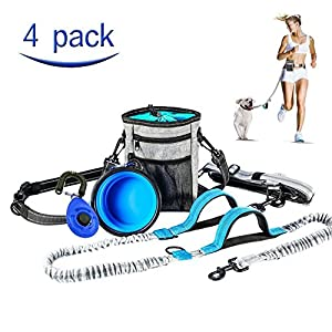 MG MULGORE Dog Leash Hands Free Running Leash with Dog Treat Bag,Dog Bowl and Dog Clicker Adjustable Design Fits Waist… Click on image for further info.
