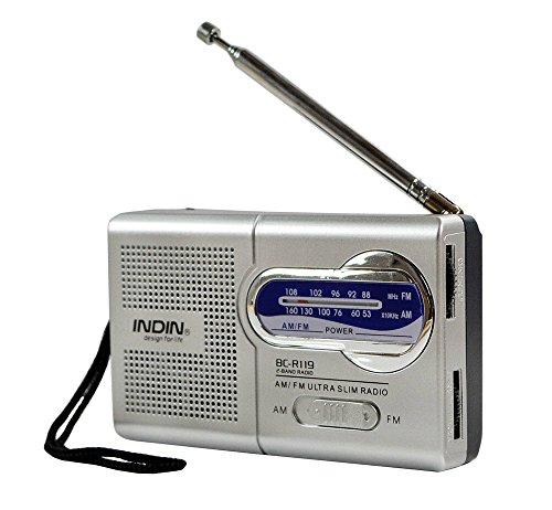 Handheld AM/FM Mini Radio – Portable Radio for Emergencies, Office Desk Radio Survival Kits, Camping, Hurricane Season, etc – Small Battery Operated Pocket Radio with Telescopic Antenna (Desk Radio Am Fm)